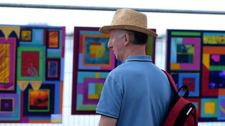 Bright and colourful pieces of art adorned the seafront Picture: SARAH LUCY BROWN