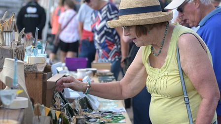 Thousands of visitors flocked to Felixstowe for the annual Art on the Prom event Picture: SARAH LUC