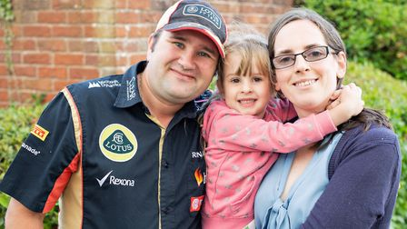 Arren and Rachel Woodward with their daughter Adele. Picture: Bourn Hall Clinic/StillVision Photogra