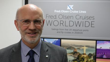 Mike Rodwell who is retiring from his role as managing director of Fred. Olsen Cruise Lines after mo