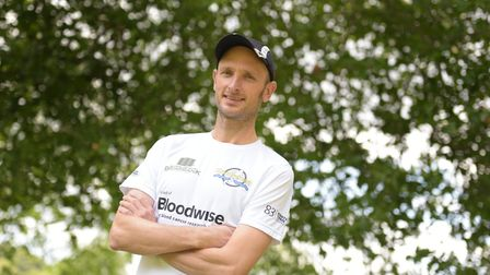 Daniel Coughlan is taking part in a Enduroman triathlon, which included swimming the Channel Pictur