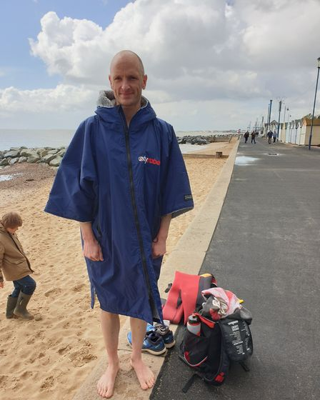 Ipswich businessman Dan Coughlan, who is taking on the Enduroman challenge, who trains for the Engli