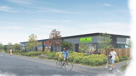 An artist impression of what the new retail park at Boss Hall could look like. Picture: DAVID CLARKE