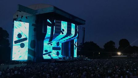 Ed Sheeran performed in front of thousands at Chantry Park in Ipswich. Picture: ARCHANT