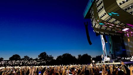 Ed Sheeran wowed crowds at Chantry Park in Ipswich, Friday, 23 August. Picture: VICTORIA FRANK