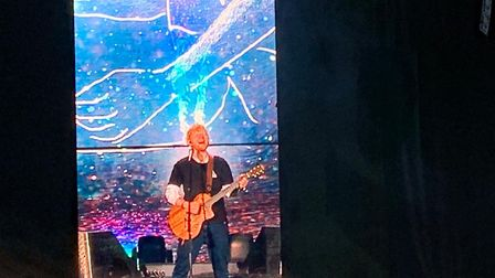 Ed Sheeran lit up the stage at Chantry Park. Picture: EMILY TOWNSEND