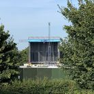 First glimpse of the stage for the Chantry Park concerts Picture: STEPHEN BAILEY