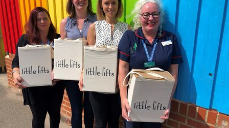 The charity littlelifts has given comfort boxes to support cancer patients at Ipswich Hospital. Pict