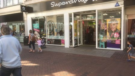 Superdrug in Tavern Street, Ipswich which is remaining open. Picture: DAVID VINCENT