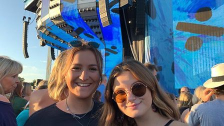 Victoria Frank (left), enjoyed the concert with her sister, Lucy. Picture: VICTORIA FRANK