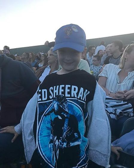 Jack, 5, have traveled from Germany with his family to see Ed Sheeran perform. Picture: ARCHANT