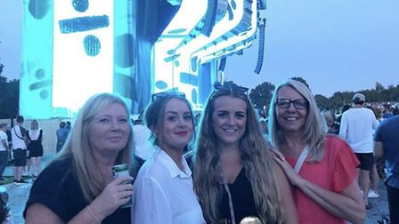 Fans enjoying the Ed Sheeran concert at Chantry Park. Picture: SARAH CROUCH