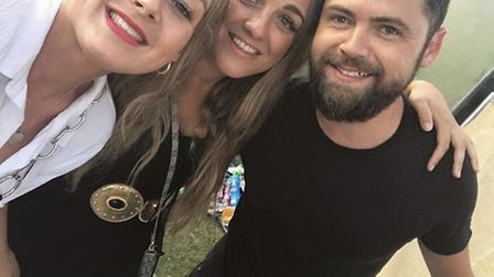 Sarah Crouch and her sister Danielle even managed to get a selfie with support act Passenger. Pictur
