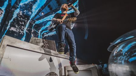 Ed Sheeran's second night at Chantry Park in Ipswich, performing to a crowd of more than 40,000 peop