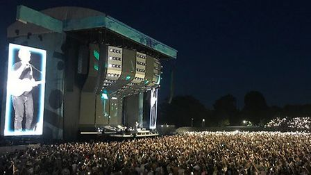 Ed Sheeran on stage at Chantry Park Picture: ARCHANT