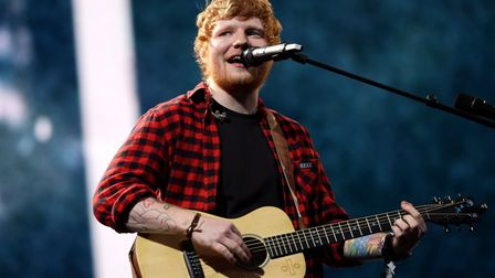 Will Ed Sheeran be singing in the rain at Chantry Park this weekend?Picture: YUI MOK/PA WIRE