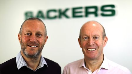 From left, Adrian and David Dodds, joint managing directors at Sackers Picture: LYNDON HACKETT