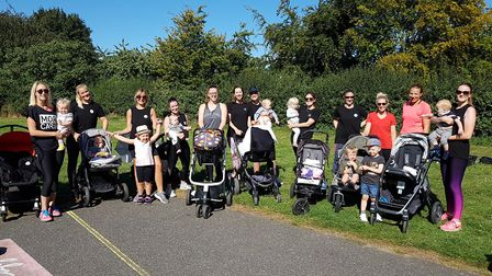 Mums, toddlers and buggies - a perfect combination for fitness Picture: RACHEL EDGE