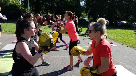 The sessions feature all sorts of fitness work Picture: PICTURE: RACHEL EDGE