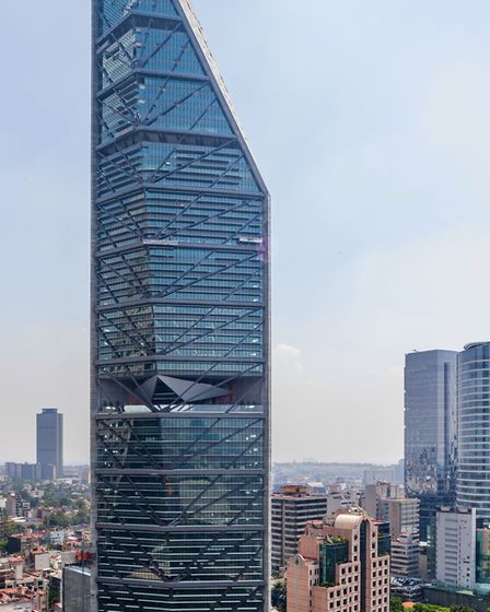 The Torre Reforma skyscraper in Mexico has a muliparker system similar to the one being built for