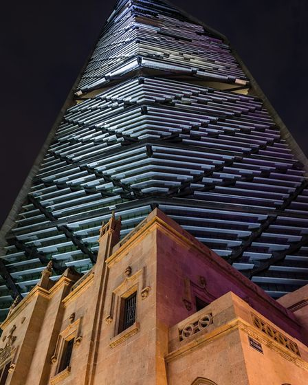 The tallest building in Mexico, the Torre Reforma skyscraper, has a multiparker car stacking system