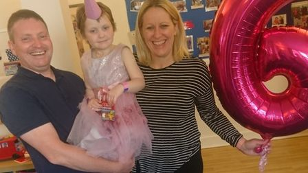 Arabella Scannell celebrating her sixth birthday earlier this year. Picture: ELLIE SCANNELL