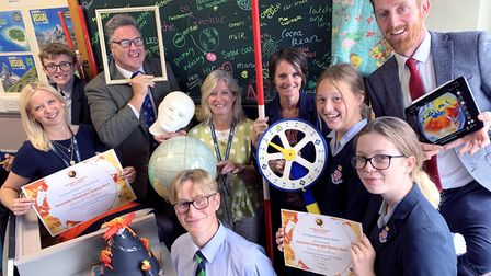 The Royal Hospital School received the award thanks to innovative teaching that included pupils' ide