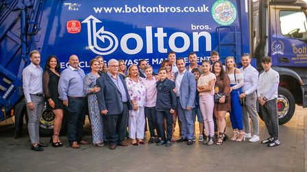 The Bolton family and staff at the firm's 50th anniversary party Picture: SOPHIE SKIPPER PHOTOGRAPH