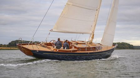 The Spirit Yachts 50CR (cruiser-racer) with Lignia rather than teak decking, which is launching at t