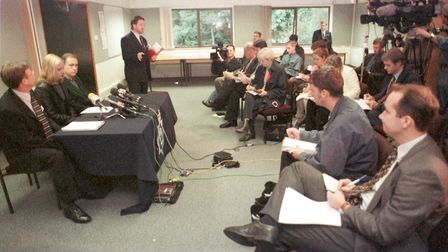 A press conference with Gemma Algar at police headquarters in September, 1999 Picture: ARCHANT