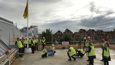 Topping Out ceremony at The Hold in Ipswich Picture: SARAH LUCY BROWN