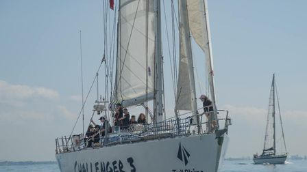 One of the 72ft Challenger tall ships, operated by The Tall Ships Youth Trust, is coming to Ipswich
