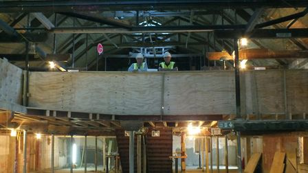 Inside the Maltings building in Princes Street in the early days of the �3m renovation project. Pic
