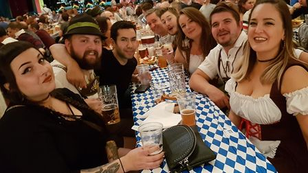 Oktoberfest 2019 at the town hall in Ipswich. PICTURE: RACHEL EDGE