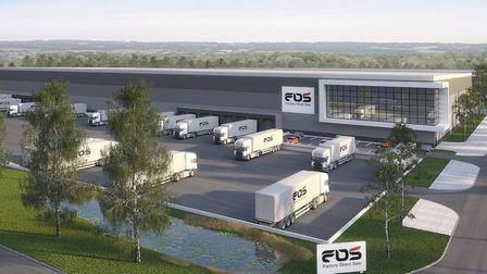 A massive new 144,000 sq ft warehouse and logistics unit costing �20m is to be built at Port One, Gr