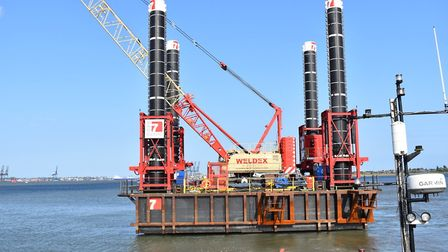 Ipswich-based Red7Marine engineered a new pontoon for Galloper wind farm off the Suffolk coast Pict
