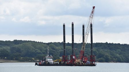 Ipswich-based Red7Marine has built a new pontoon for Galloper wind farm off the Suffolk coast Pictu
