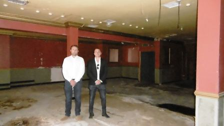 The former Dolce Vita nightclub in Ipswich before conversin into apartments. Inside, builder Levi Dr