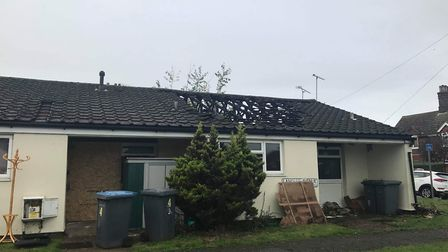 The blaze is understood to have started in the roof of a property in Grange Road Picture: SOPHIE BAR