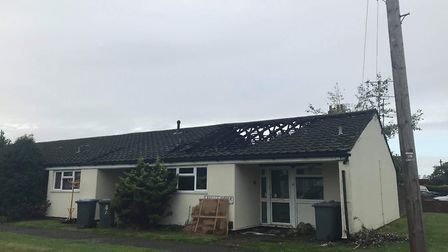 Five fire crews were called out to the bungalow fires in Felixstowe Picture: SOPHIE BARNETT