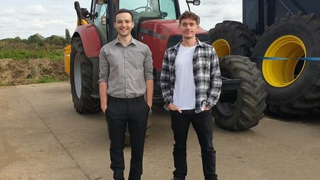 Business partners Sam Elliss and Edmund Morron of Zaros Machinery, Ipswich. Picture: SOPHIE LAWSON