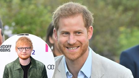 Ed Sheeran is supporting World Mental Health Day with the Duke of Suxxex Prince Harry PICTURE: PA Wi