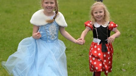 Nevaeh and Nelayni all set for the cinderella ball Picture: SARAH LUCY BROWN