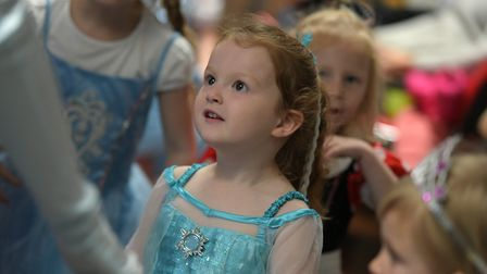 Children enjoying the Cinderella ball at Chantry Library Picture: SARAH LUCY BROWN