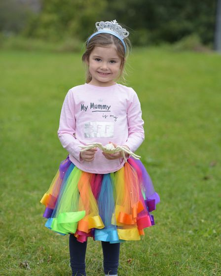 Grace in her best princess outfit Picture: SARAH LUCY BROWN
