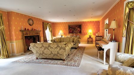 One of the several reception rooms in Kings Park House. Picture: YOPA