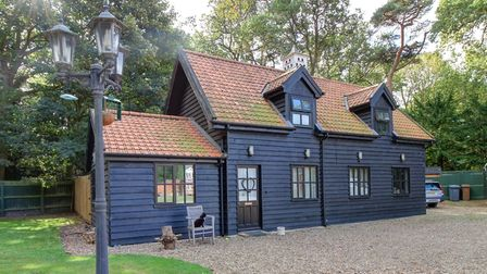The coach house in the grounds of the property has three beds, a sitting room, ground floor shower r