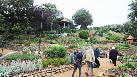 Felixstowe seafront gardens, where a woman was injured in a fall. Picture: ARCHANT