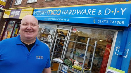 Shop Manager Melvin Robinson outside the reopened shop Picture: RACHEL EDGE