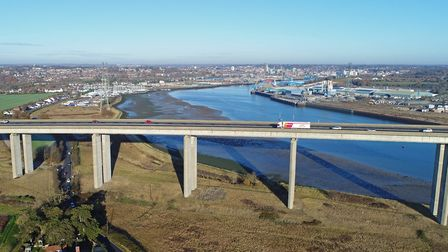 Both carrigeways of the Orwell Bridge will be closed for repair works over the next few nights Pict